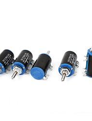 Wxd3-13 10k ohm 2w potenciômetro giratório giratório de 4 pinos de 5 pinos 5 pedaços