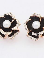 Women's Stud Earrings Drop Earrings Hoop Earrings Imitation Diamond Imitation PearlBasic Circular Unique Design Logo Style Rhinestones