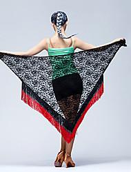 Latin Dance Hip Scarves Women's Performance Laces Tassel(s) 1 Piece Hip Scarf