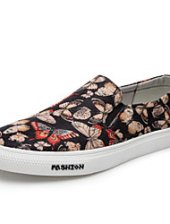 Hombre Zapatos de taco bajo y Slip-Ons Confort Tejido Primavera Otoño Informal Paseo Tacón Plano Pantalla de color Plano