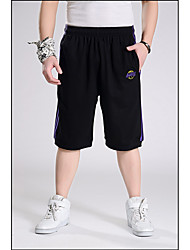 Men's Mid Rise Inelastic Shorts Pants,Street chic Simple Loose Straight Solid