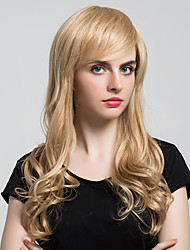 Attractive Fishion Long Curly Hair Human Hair Wigs