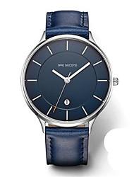 Men's Fashion Watch Quartz Calendar Water Resistant / Water Proof Noctilucent Leather Band Black Blue Brown