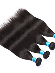 Vinsteen Malaysian 4Pcs Straight Human Hair Natural Human Hair Weft Double Weft Human Hair Weaves Black Color Hair Extensions
