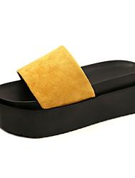 Women's Slippers & Flip-Flops Comfort Dull Polish Flange Increase Summer Fall Casual Dress Comfort Creepers