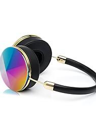 Наушники с головным убором liboer bh868 с микрофоном, переносной проводной розовой золотой гарнитурой с сумкой для iphone