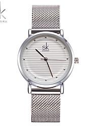 SK Mulheres Relógio Elegante Relógio de Moda Bracele Relógio Único Criativo relógio Chinês Quartzo Impermeável Resistente ao ChoqueMetal