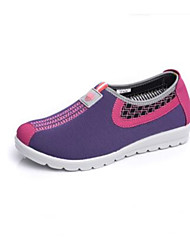 Women's Sneakers Spring Comfort Fabric Casual Screen Color Purple Gray