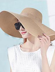 Для женщин Винтаж Шляпа от солнца Однотонный Чистый цвет