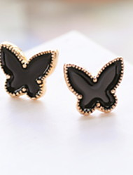 Euramerican Tast Contracted Joker Small Butterfly Shape Girl Daily Earrings Movie Jewelry