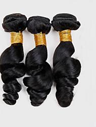 Tissages de cheveux humains Cheveux Péruviens Ondulation Lâche 18 Mois 3 tissages de cheveux