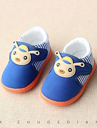 Baby Flats First Walkers Leatherette Spring Fall Casual Outdoor Walking First Walkers Magic Tape Low Heel Blue Blushing Pink Flat