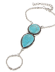Women's Turquoise Ring Bracelet Bohemian Alloy Circle Jewelry 147 Dailywear
