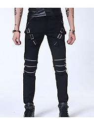Homme Street Chic Taille Normale Micro-élastique Mince Pantalon,Mince