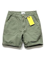 Men's Low Rise Micro-elastic Loose Pants,Simple Straight Solid