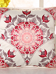 1 Pcs Top Grade Bohemia Red Flowers Pillow Cover Sofa Cushion Pillowcase