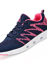 Women's Athletic Shoes Comfort PU Spring Fall Outdoor Flat Heel Blushing Pink Navy Blue Gray Flat