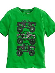 Girls' Solid Color Tee,Cotton Summer