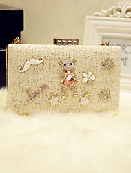 Women Shoulder Bag PU All Seasons Event/Party Casual Date Baguette Sparkling Glitter Magnetic Champagne