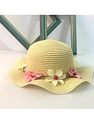 Для женщин Очаровательный На каждый день Шляпа от солнца,Весна/осень Лето Лён Солома Однотонный