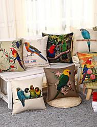 3D Parrot Pillow Cover 7 Design Square Cotton/Linen Pillow Case