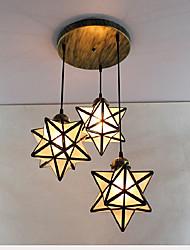 Подвесные лампы ,  Природа Другое Особенность for Хрусталь Матовая Металл Девочки Детская Коридор 3 луковицы