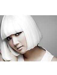 Kinky Straight Wig Bob Women Wig Synthetic Wig Costume Wig