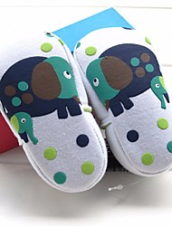 Girls' Flats First Walkers Leatherette Spring Fall Casual Walking First Walkers Magic Tape Low Heel Green White Flat
