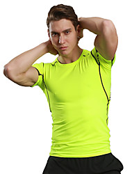Men's Running T-Shirt Quick Dry Breathable Soft Compression Comfortable T-shirt Top for Camping / Hiking Exercise & Fitness Racing