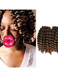 Гавана Вязаные Кудрявый Надувной Curl Deep Twist Pre-петлевые вязания крючком плетенки Наращивание волос Китай косы волос