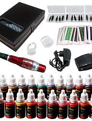 Kit make up Polveri per sopracciglia Labbra Eyeliner Macchinette per Tatuaggio  3 Aghi Round Liner 5 Aghi Round Liner 7 Aghi Round Liner