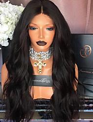 2017 nova moda laço frente cabelo humano peruca onda natural para mulher 180% densidade peluca virgem virgem de cabelo virgem brasileira