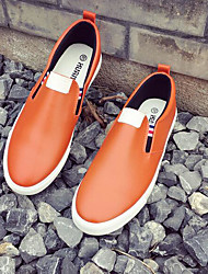 Women's Flats Comfort PU Spring Casual Orange Black White Flat