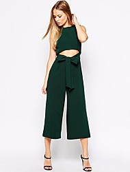 Women's Going out Jumpsuits,Sexy Loose Solid Color Summer