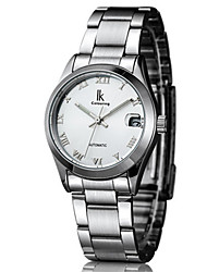 Women's Fashion Watch Mechanical Watch Automatic self-winding Calendar Water Resistant / Water Proof Noctilucent Alloy Band Silver Orange