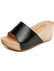 Women's Slippers & Flip-Flops Comfort All Match Flange Breathe Freely Summer Fall Casual Dress Comfort Wedge Heel