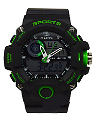 Men's Sport Watch Digital Watch Quartz Rubber Band Black
