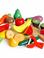 Toy Foods For Gift  Building Blocks Wooden 3-6 years old Toys