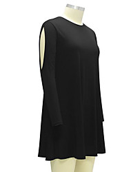 Women's Beach A Line Dress,Solid V Neck Maxi Sleeveless Silk Faux Fur Summer Low Rise Micro-elastic Medium