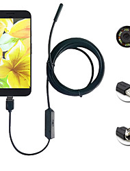 2in1 android&PC 8,0 mm lente endoscope HD 2.0 mega pixels 6 led ip67 inspeção impermeabilizável borescope 3m cabo flexível longo