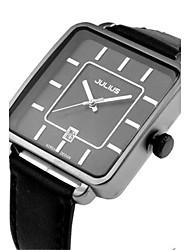 Муж. Модные часы Кварцевый Защита от влаги Кожа Группа Повседневная Черный Белый Коричневый