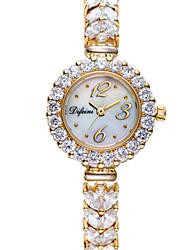Women's Fashion Watch Quartz Alloy Band Sparkle Charm Silver Gold