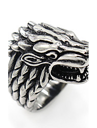 Men's Ring Animal Design Costume Jewelry Stainless Steel Wolf Jewelry For Gift Daily Casual Christmas Gifts
