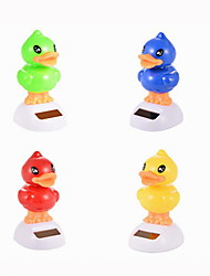 Creative Solar Automatic Swinging Duck Decoration For Office Desktop 1PC