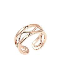 Ring Modisch Simple Style vergoldet Runde Form Schmuck Für Alltag 1 Stück