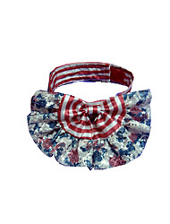 Dog Tie/Bow Tie Dog Clothes Party Birthday Stripe Ruby