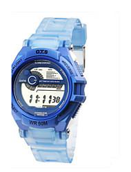 Mulheres Relógio de Moda Chinês Quartzo Borracha Banda Casual Azul Roxa