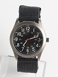 Men's Fashion Watch Japanese Japanese Quartz / Nylon Band Casual Black Silver