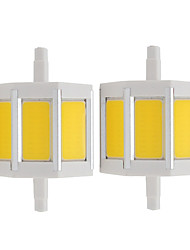 R7S 78mm LED Energy Saving Light COB Replacement Halogen Floodlight Lamp AC85-265V (2 Pieces)