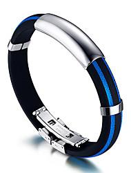 Муж. ID браслеты Rock бижутерия Мода Хип-хоп Силикон Титановая сталь Круглый Круглой формы Бижутерия Назначение День рождения Спорт